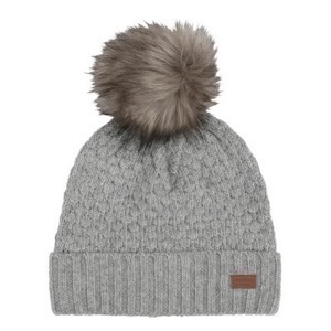 Melton - Lamb Wool Sailor Hat W. Fake Fur Pom, L.Grey Melange