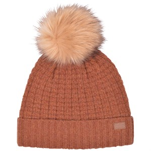 Melton - LAMB WOOL Hat w. Structure, Leather Brown