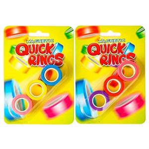 Amo Toys - Magnetic Quick Rings Neon 3 pack.