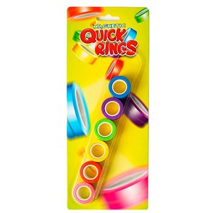 Amo Toys - Magnetic Quick Rings Neon 6 pack.