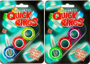 Amo Toys - Magnetic Quick Rings Glow In The Dark 3 pack.