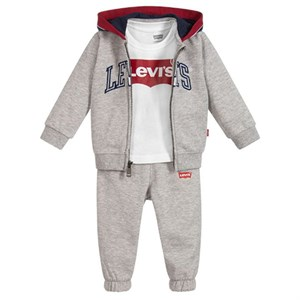 Levi's Kids - Color Blocked Hoodie 3 Pc Set, Grey Heather