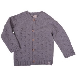 PAPFAR - POP Knit Cardigan, Light Grey Melange