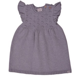PAPFAR - POP Knit Dress, Light Grey Melange