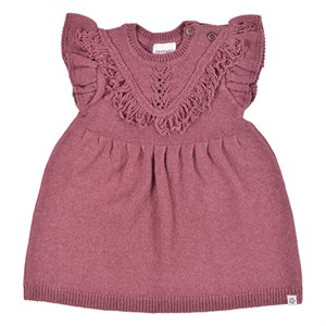 PAPFAR - Frill Knit Dress, Rose Brown