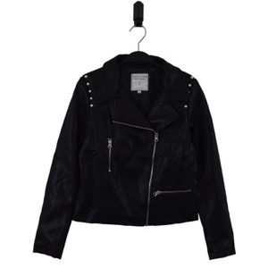 HOUNd Girl - PU Biker Jacket, Black