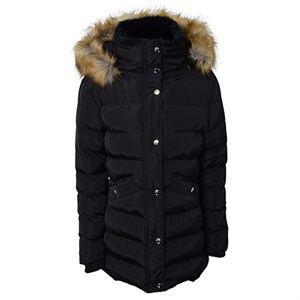 HOUNd - Long down jacket w/thinsulate, Black