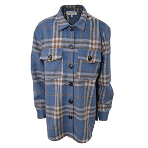 HOUNd - Plaid Shirt Jacket, Light Blue
