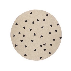 Ferm Living - Round Carpet - Triangle