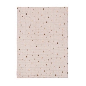 Ferm Living -  Cone Quilted Blanket - Rose