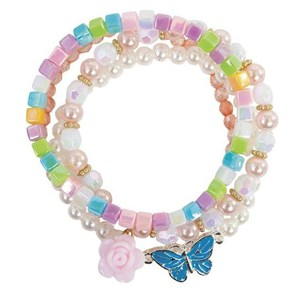 Great Pretenders - Pearly Butterfly Armbånd - 4 Stk