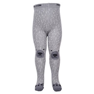 Melton - Bamse strømpebukser, Light Grey Melange