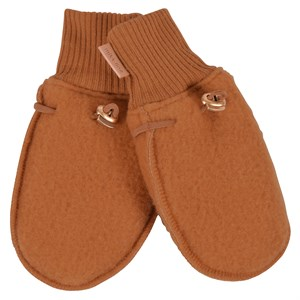 Mikk-Line - Wool Mittens / Luffer, Leather Brown