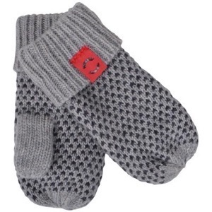 Mikk-Line - Lamb Wool Mittens, Light grey melange