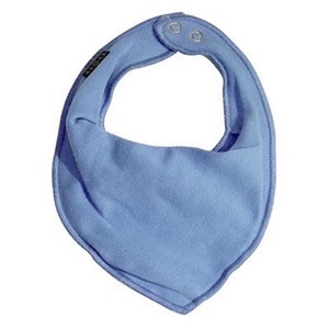 Mikk-Line - Cotton Bibs Triangle, Aqua Blue