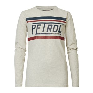 Petrol Industries - T-Shirt LS, Antique White Melee