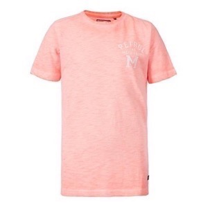 Petrol - Boys T-shirt SS R-Neck, Fiery Coral