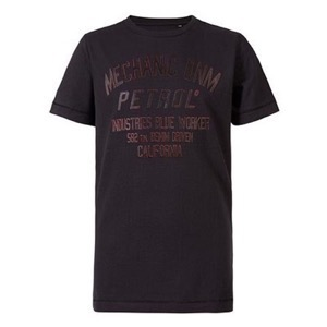 Petrol - Boys T-shirt SS R-Neck, Black
