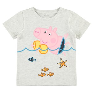 Name It - Peppa Pig Louis T-shirt SS, Light Grey Melange