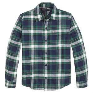 Tommy Hilfiger - Check Flannel Shirt LS, Green Check