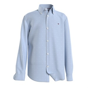 Tommy Hilfiger - Dotted Dobby Shirt LS, Blue Stripe