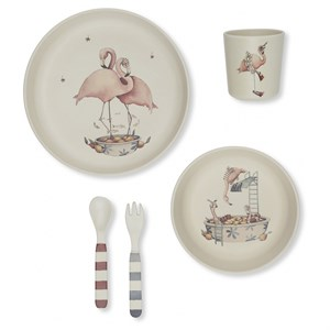 Konges Sløjd - Flamingo Dinner Set, Nature