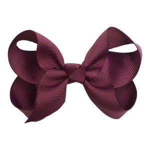 Little Wonders - Kamilla Sløjfe 8 cm - Grosgrain, Rose Wine (bordeaux)