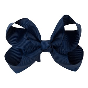 Little Wonders - Kamilla Sløjfe 8 cm - Grosgrain, Navy