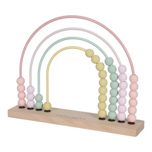 Little Dutch - Rainbow Abacus / Kugleramme, Pink