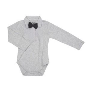 Petit By Sofie Schnoor - Body W. Collar LS, Grey Melange