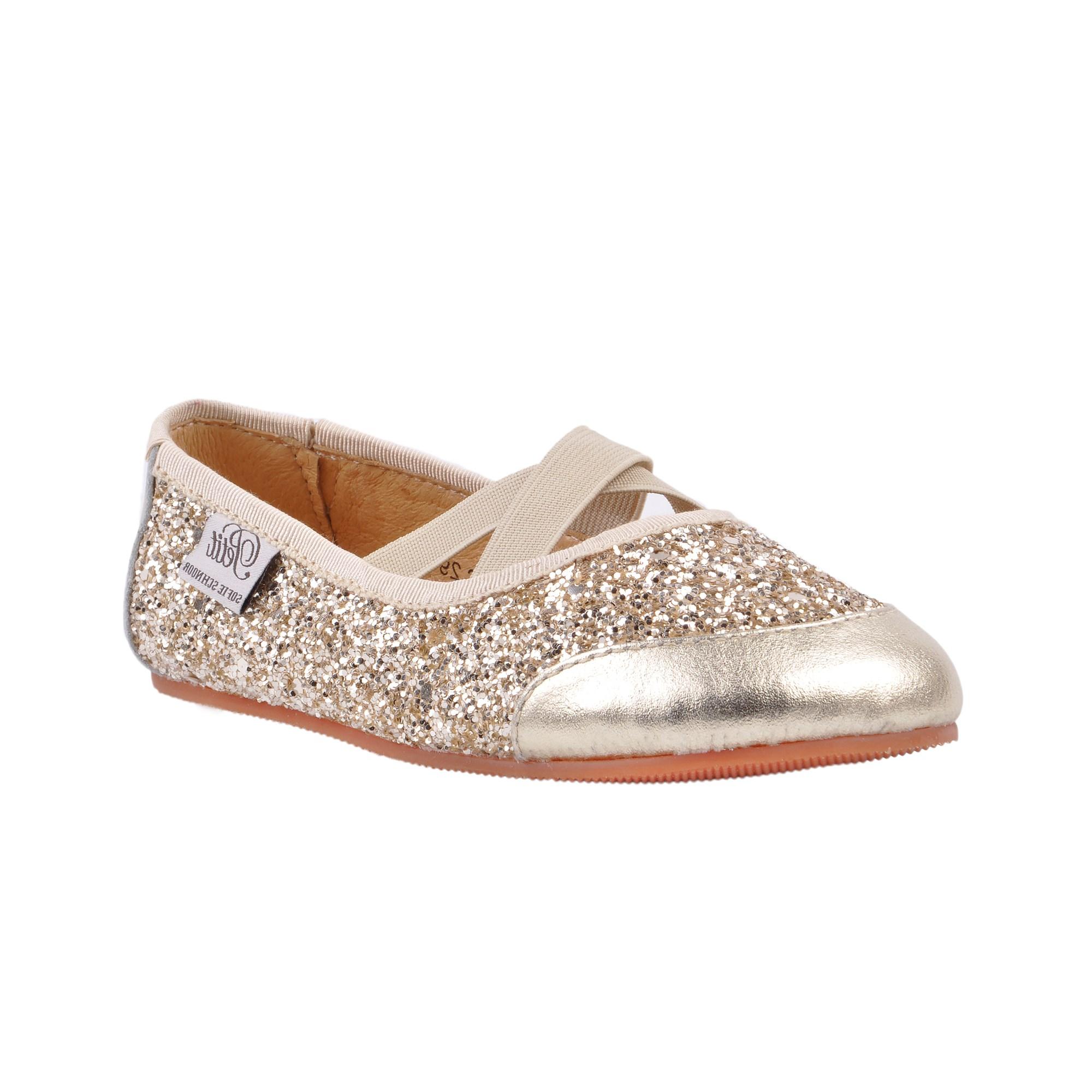 Petit By Sofie Schnoor Ballerina Indesko, Glitter Champagne