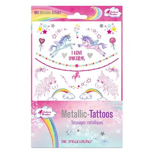Einhorn-Paradies - 18 Metallic tattoos Unicorn Paradise