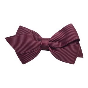 Little Wonders - Viola Sløjfe 6 cm flad - Grosgrain, Rose Wine (bordeaux)