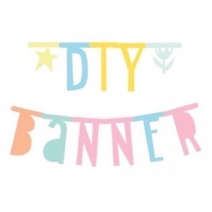 A Little Lovely Company - Letter Banner - Pastel