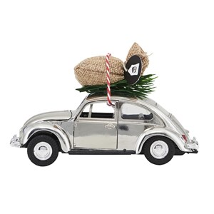House Doctor - Dekoration - Xmas car, Krom l: 12.50 cm