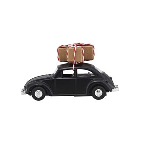 House Doctor - Dekoration - MINI Xmas car, Sort l: 8.5 cm