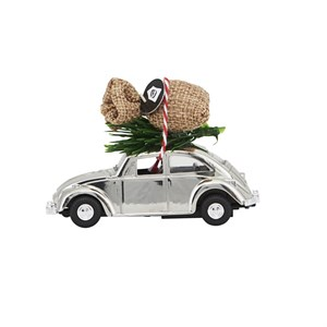 House Doctor - Dekoration - MINI Xmas car, Krom l: 8.5 cm