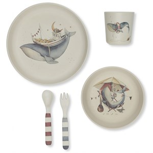 Konges Sløjd - Whale Dinner Set, Nature