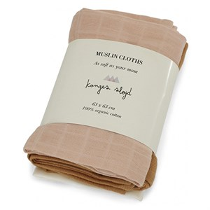 Konges Sløjd - 3 Pack Muslin Cloths / Stofbleer, Rose