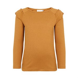 Name it - Birie LS Slim Top, Bone Brown